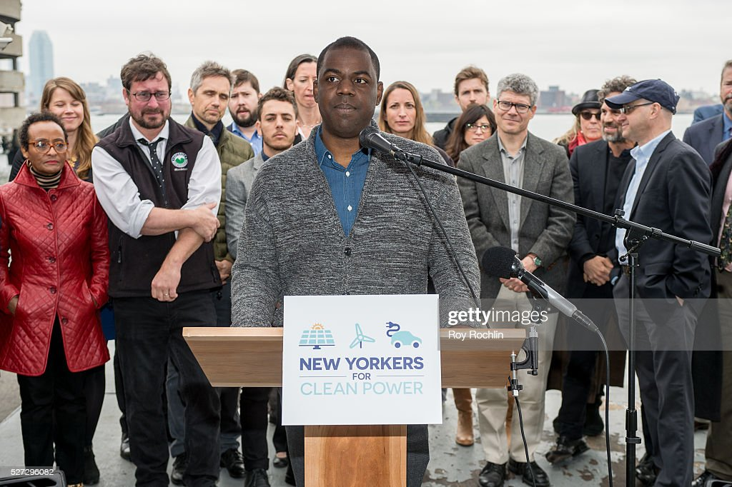 Donnel Baird of BlocPower attends New Yorkers For Clean Power Campaign Launch at Solar 1 on May 2, 2016 in New York City.