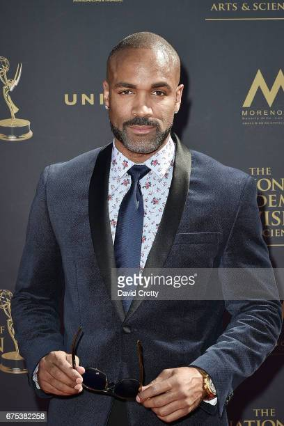 Donnell Turner attends the 44th Annual Daytime Emmy Awards at Pasadena Civic Auditorium on April 30 2017 in Pasadena California