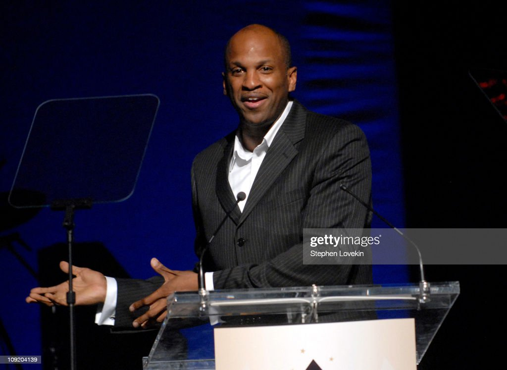 Donnie McClurkin accepts his award during the Recording Academy New York Chapter's Tribute to Bon Jovi Alicia Keys Donnie McClurkin and the creators...