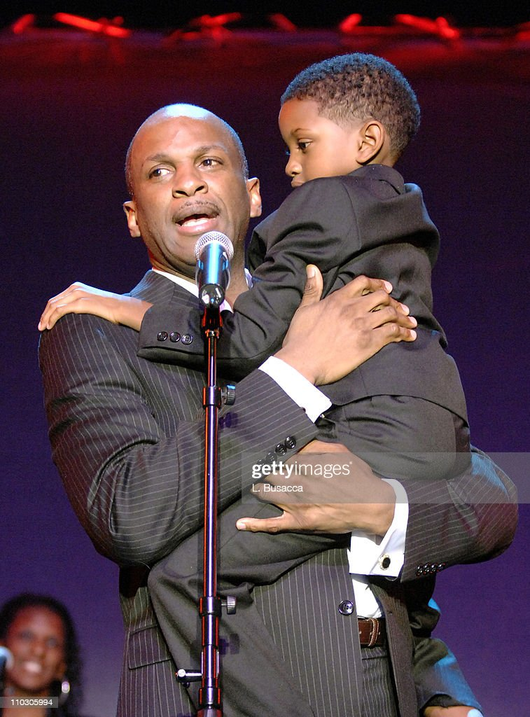 Donnie McClurkin performs 'Stand' with the Choir Academy of Harlem during the Recording Academy New York Chapter's Tribute to Bon Jovi Alicia Keys...