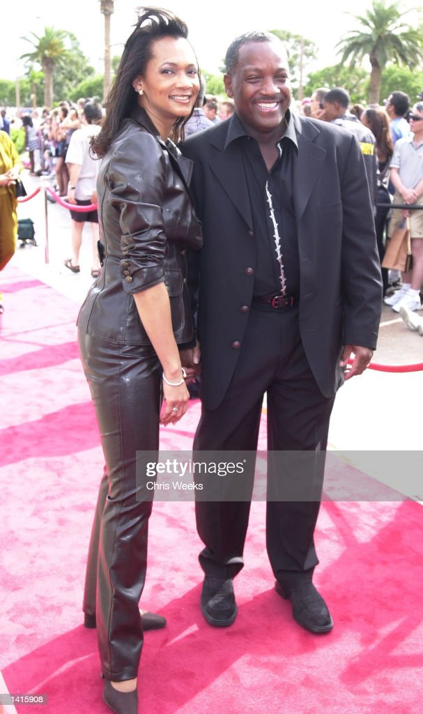 Donnie Simpson and wife Pam attend the 20th Anniversary celebration of BET (Black Entertainment Television) at the Paris Hotel May 6, 2000 in Las Vegas, NV.