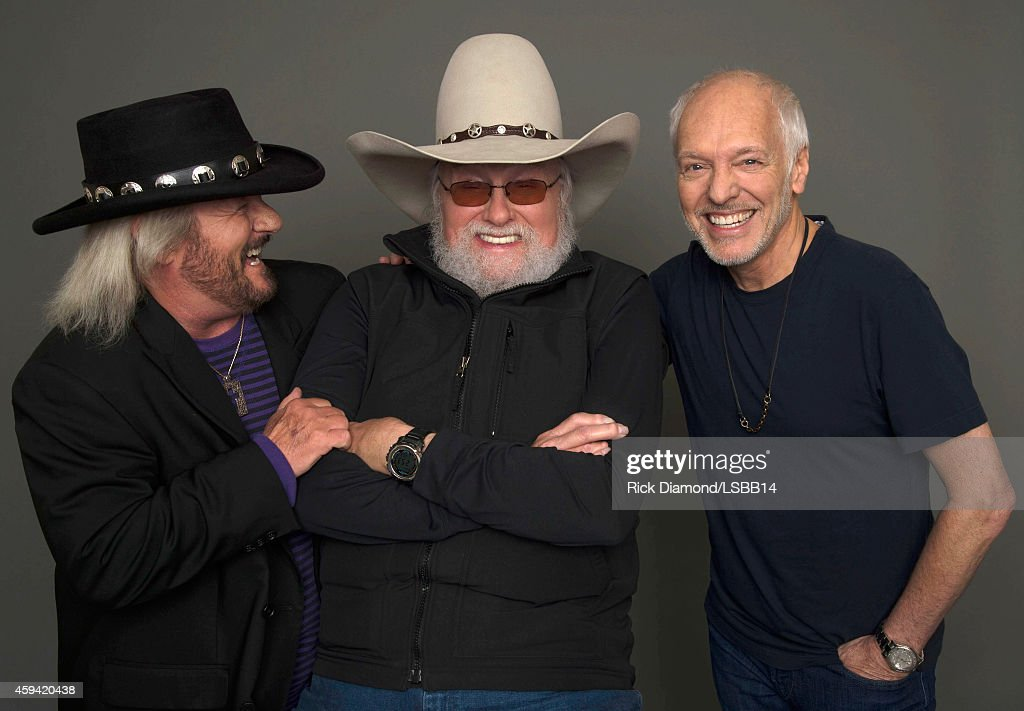 Donnie Van Zant, Charlie Daniels, and Peter Frampton pose backstage at One More For The Fans! - Celebrating the Songs & Music of Lynyrd Skynyrd at The Fox Theatre on November 12, 2014 in Atlanta, Georgia.