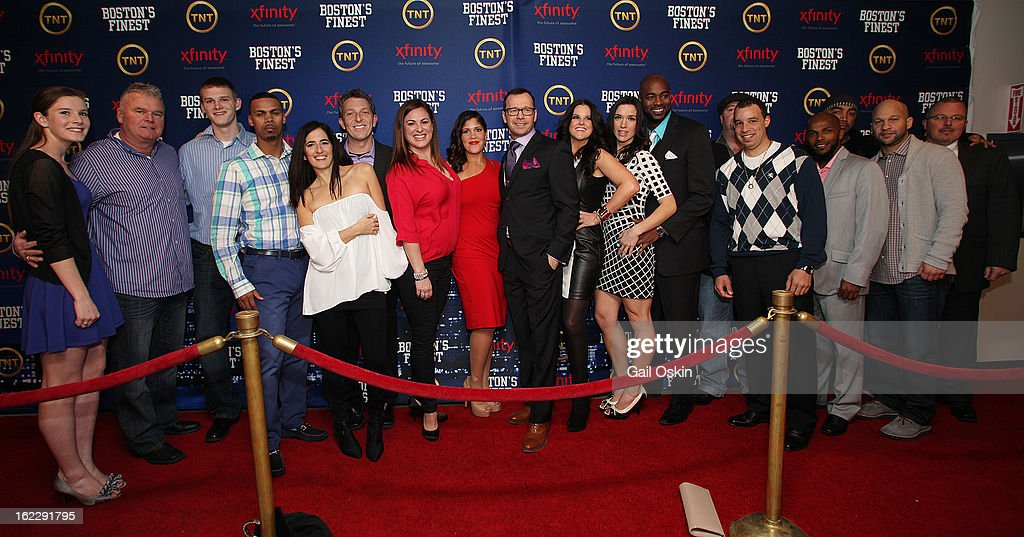 Donnie Wahlberg and cast and crew members attend TNT's 'Boston's Finest' premiere screening at The Revere Hotel on February 20, 2013 in Boston, Massachusetts.