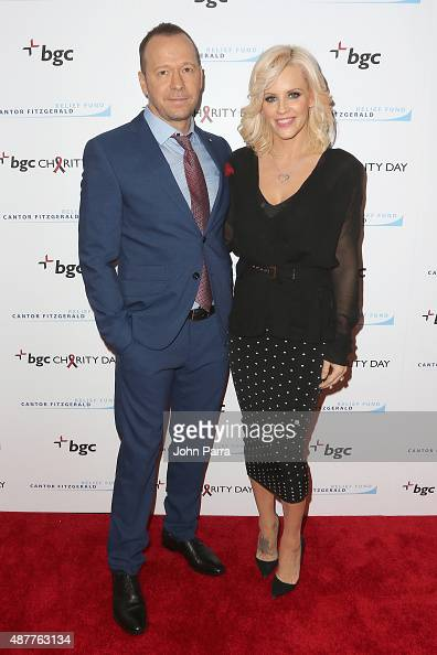 Donnie Wahlberg and Jenny McCarthy attend Annual Charity Day hosted by Cantor Fitzgerald and BGC at BGC Partners INC on September 11 2015 in New York...