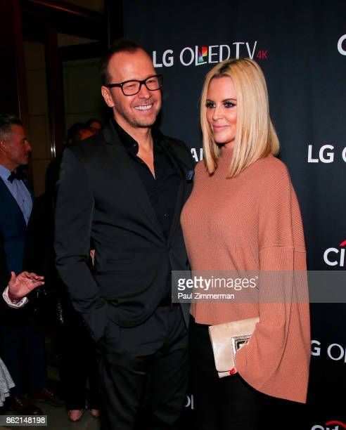 Donnie Wahlberg and Jenny McCarthy attend PaleyFest NY 2017 'Blue Bloods' at The Paley Center for Media on October 16 2017 in New York City