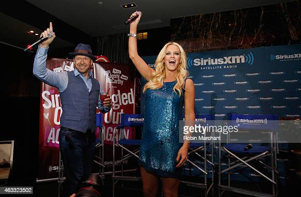 Donnie Wahlberg and Jenny McCarthy attend 'Singled OutAgain' On Her Exclusive SiriusXM Show 'Dirty Sexy Funny With Jenny McCarthy' on February 12...