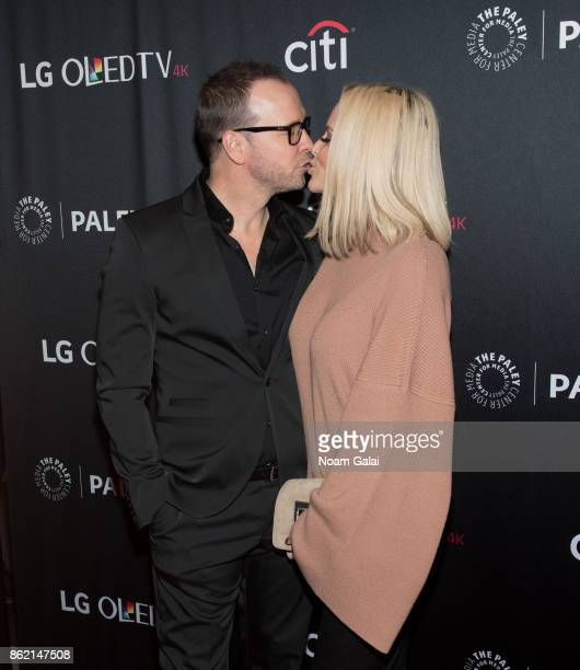 Donnie Wahlberg and Jenny McCarthy attend the 'Blue Bloods' screening during PaleyFest NY 2017 at The Paley Center for Media on October 16 2017 in...