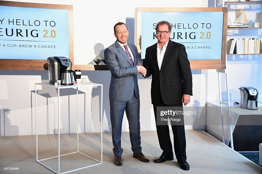 donnie wahlberg and john whoriskey attend the keurig 20 launch popup celebration on october 15