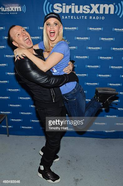 Donnie Wahlberg attends and Jenny McCarthy hosts her SiriusXM Show live from Beyond The Ivy in Chicago on October 20 2015 in Chicago Illinois