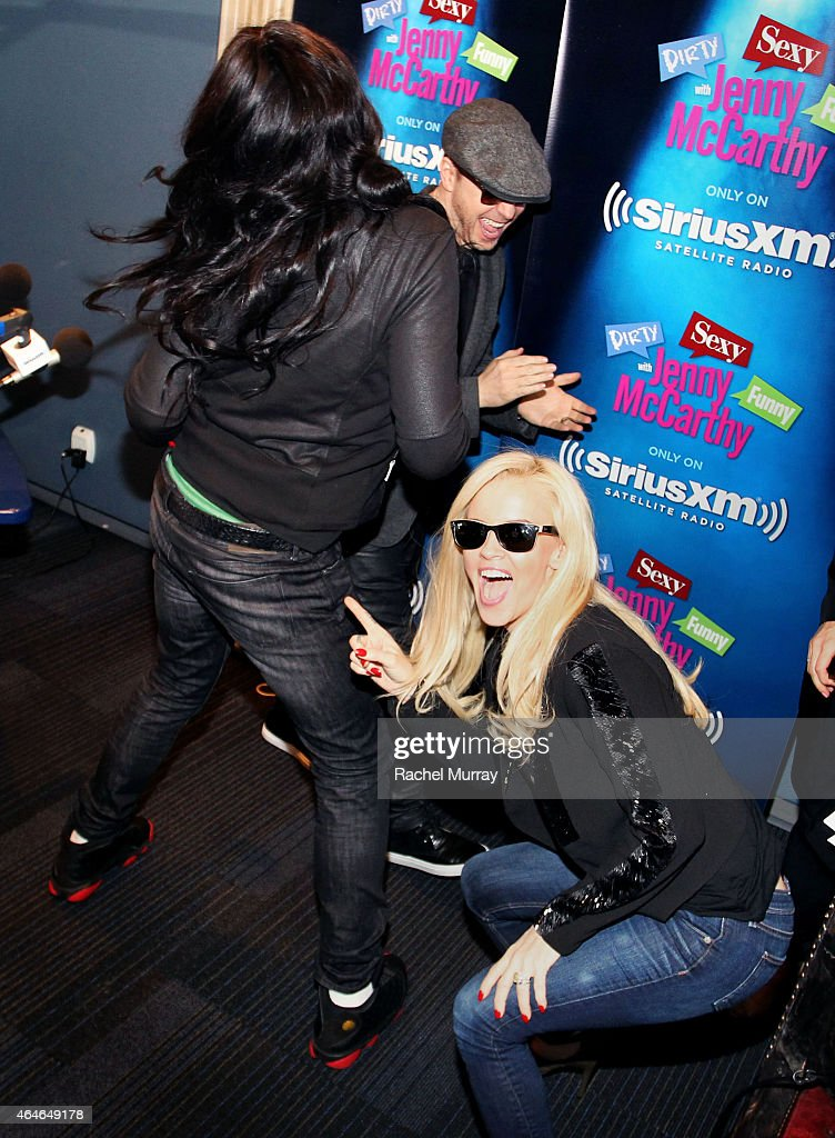 Donnie Wahlberg Big Freedia and Jenny McCarthy twerking in the studio during Jenny McCarthy's SiriusXM Show 'Dirty Sexy Funny With Jenny McCarthy'...