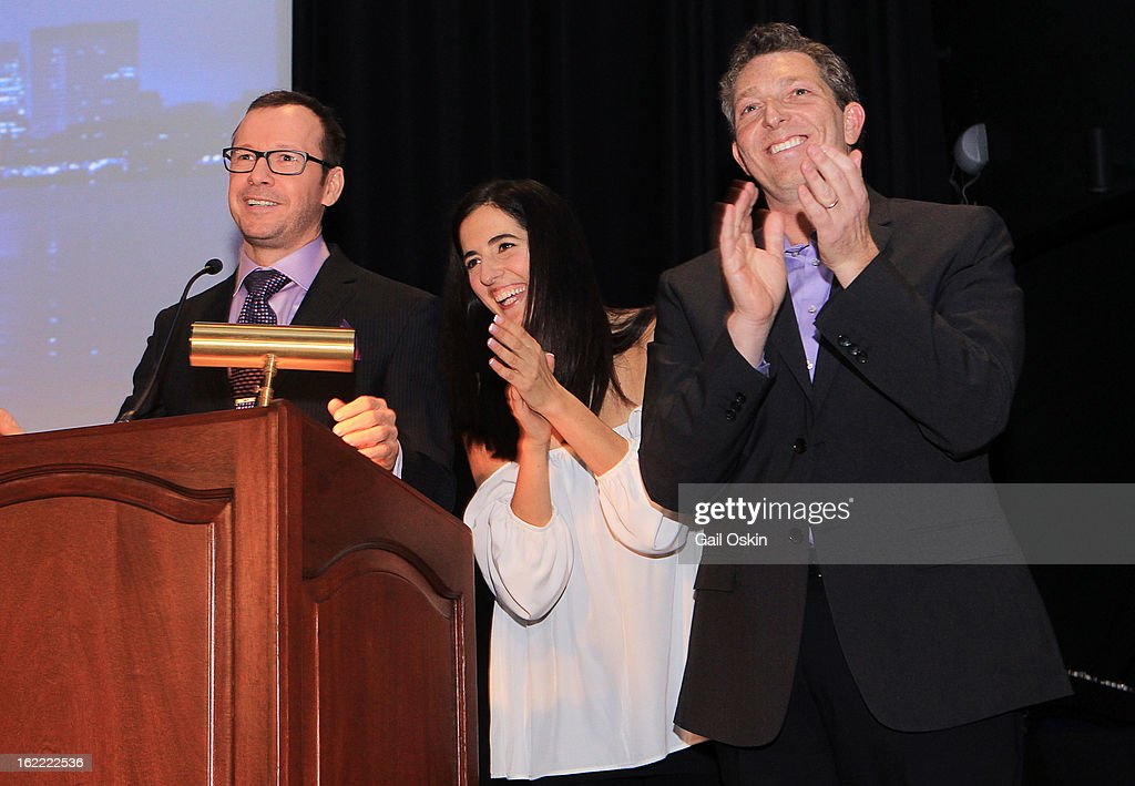 Donnie Wahlberg, Julie Jarrett and Seth Jarrett attend TNT's 'Boston's Finest' premiere screening at The Revere Hotel on February 20, 2013 in Boston, Massachusetts.