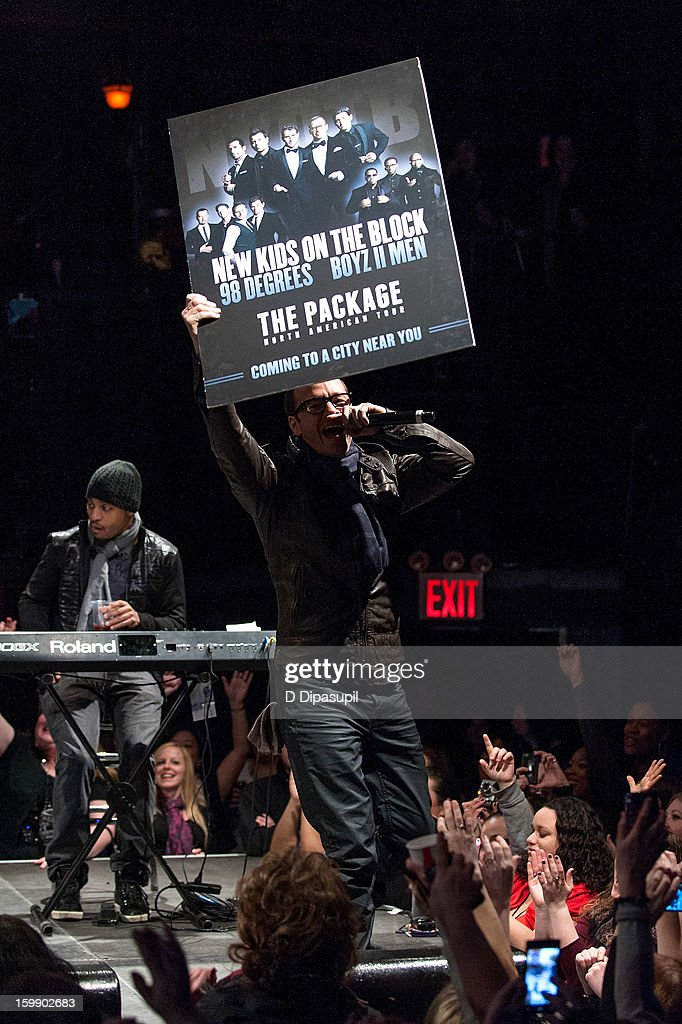 Donnie Wahlberg of New Kids on the Block attends the Package Tour Special Announcement at Irving Plaza on January 22, 2013 in New York City.