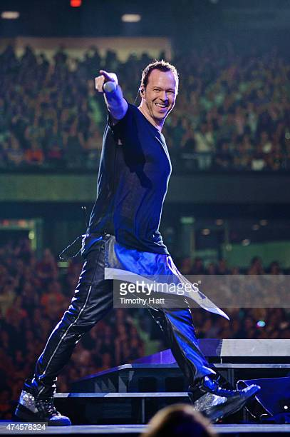 Donnie Wahlberg of New Kids On The Block performs at Allstate Arena on May 23 2015 in Rosemont Illinois