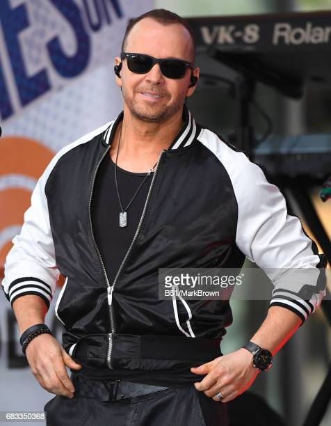 Donnie Wahlberg of New Kids on the Block performs on NBC's 'Today' at Rockefeller Plaza on May 15 2017 in New York City