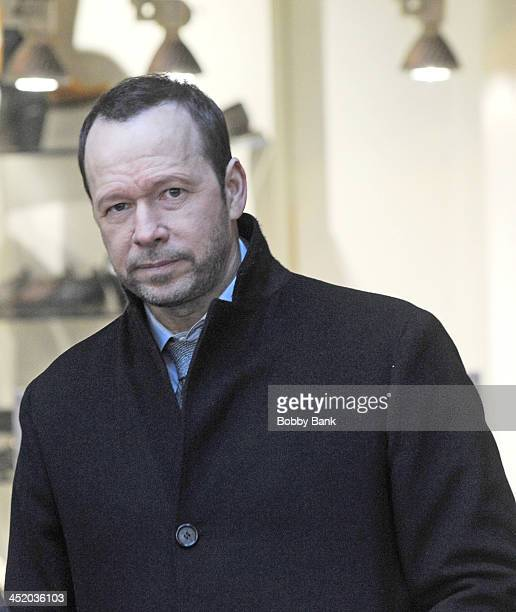Donnie Wahlberg on the set of 'Blue Bloods' on November 25 2013 in New York City