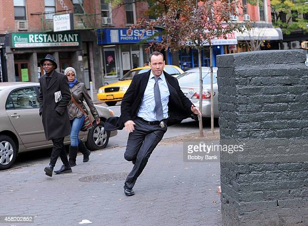 Donnie Wahlberg on the set of 'Blue Bloods' on October 31 2014 in New York City