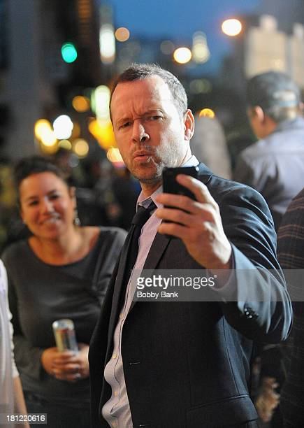 Donnie Wahlberg on the set of 'Blue Bloods' on September 19 2013 in New York City