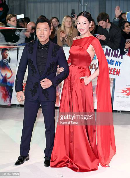 Donnie Yen and Cissy Wang attend the European premiere of 'xXx Return of Xander Cage' at Cineworld 02 on January 10 2017 in London United Kingdom