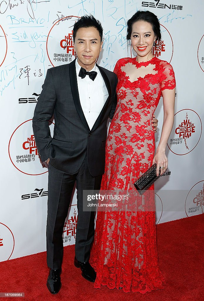 <a gi-track='captionPersonalityLinkClicked' href=/galleries/search?phrase=Donnie+Yen&family=editorial&specificpeople=235559 ng-click='$event.stopPropagation()'>Donnie Yen</a> and guest attend the 4th New York Chinese Film Festival Opening Night at Alice Tully Hall at Lincoln Center on November 5, 2013 in New York City.