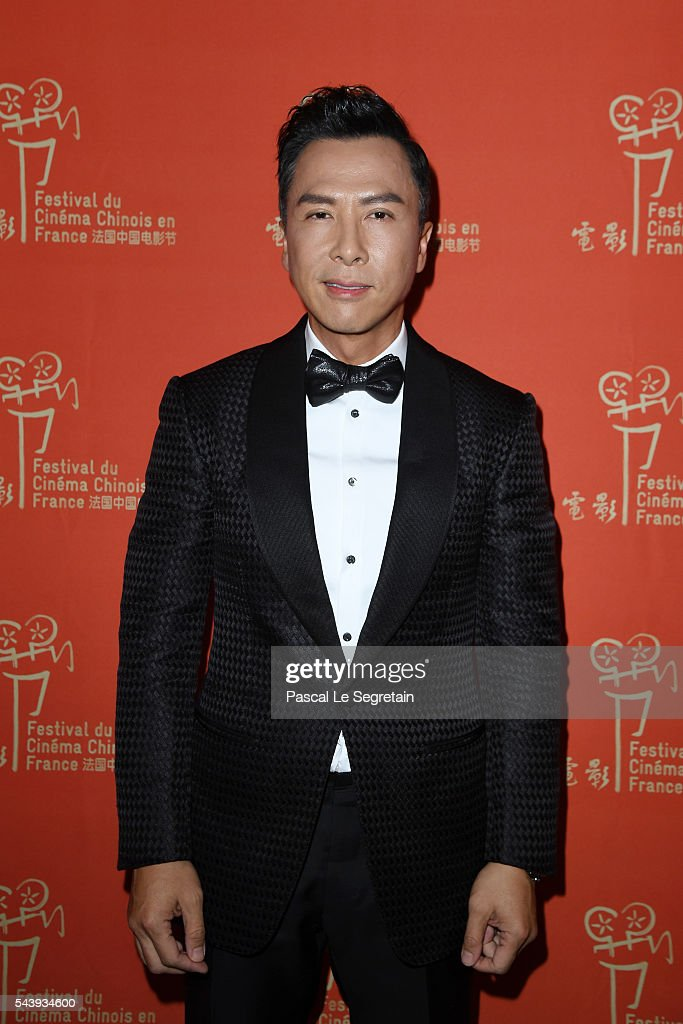 <a gi-track='captionPersonalityLinkClicked' href=/galleries/search?phrase=Donnie+Yen&family=editorial&specificpeople=235559 ng-click='$event.stopPropagation()'>Donnie Yen</a> arrives at the 6th Chinese Film Festival : Cocktail at Hotel Meurice on June 30, 2016 in Paris, France.