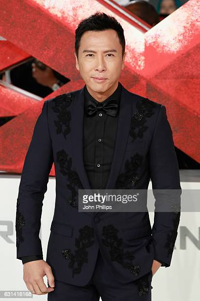 Donnie Yen attends the European premiere of 'xXx' Return of Xander Cage' at Cineworld 02 Arena on January 10 2017 in London United Kingdom