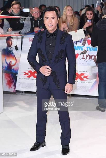 Donnie Yen attends the European premiere of 'xXx Return of Xander Cage' at Cineworld 02 on January 10 2017 in London United Kingdom