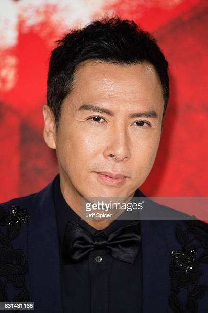 Donnie Yen attends the European premiere of 'xXx' Return of Xander Cage' on January 10 2017 in London United Kingdom