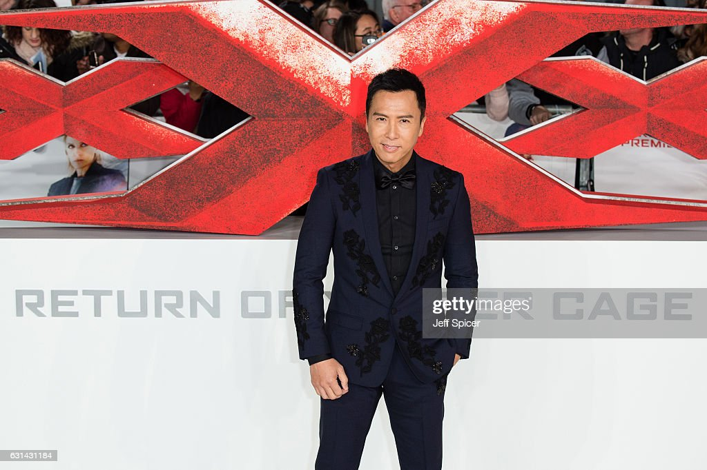 Donnie Yen attends the European premiere of 'xXx': Return of Xander Cage' on January 10, 2017 in London, United Kingdom.