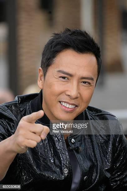 Donnie Yen visits 'Extra' at Universal Studios Hollywood on January 18 2017 in Universal City California