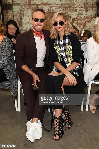Donny Galella and Nikki Phillips attends the By Johnny show at MercedesBenz Fashion Week Resort 17 Collections at Blacksmith's Workshop on May 17...