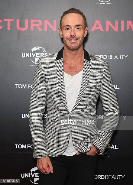 Donny Galella arrives ahead of a screening of Tom Ford's film 'Nocturnal Animals' on November 9 2016 in Sydney Australia
