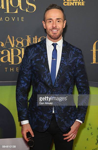 Donny Galella arrives ahead of the Absolutely Fabulous The Movie Australian premiere at State Theatre on July 31 2016 in Sydney Australia