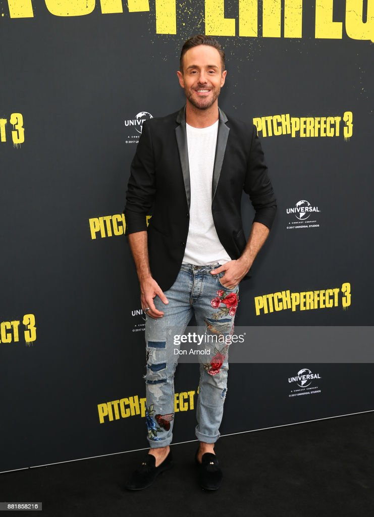 Donny Galella arrives ahead of the Australian Premiere of Pitch Perfect 3 on November 29, 2017 in Sydney, Australia.