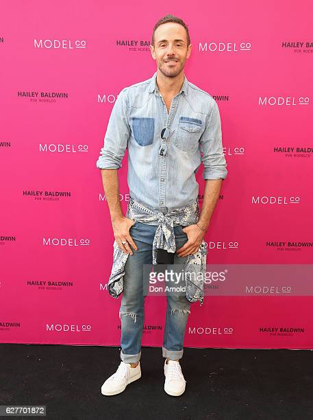 Donny Galella arrives ahead of the Hailey Baldwin for ModelCo limited edition cosmetic collection launch on December 5 2016 in Sydney Australia