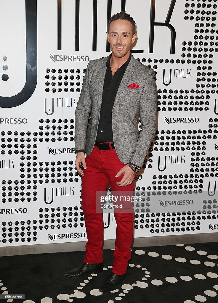 Donny Galella arrives at the Nespresso Umilk machine launch on July 30, 2013 in Sydney, Australia.