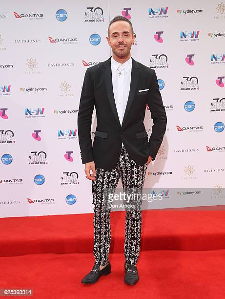 Donny Galella arrives for the 30th Annual ARIA Awards 2016 at The Star on November 23 2016 in Sydney Australia