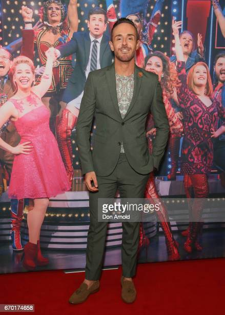 Donny Galella arrives for the opening night of Cyndi Lauper's Kinky Boots at Capitol Theatre on April 19 2017 in Sydney Australia