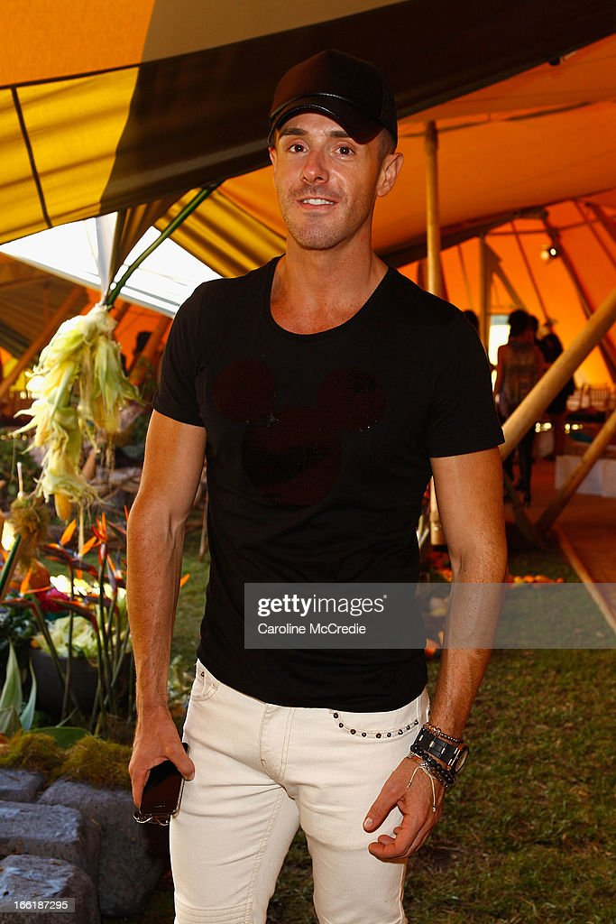 Donny Galella attends the Camilla show during Mercedes-Benz Fashion Week Australia Spring/Summer 2013/14 at Centennial Park on April 10, 2013 in Sydney, Australia.