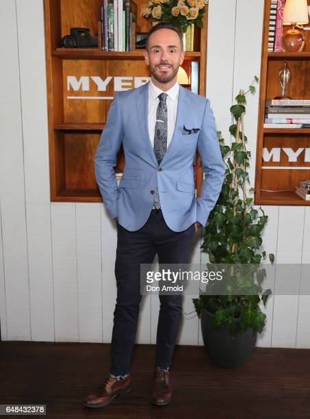 Donny Galella poses at the Myer Autumn Racing Collection Launch at the Centennial Hotel on March 6 2017 in Sydney Australia