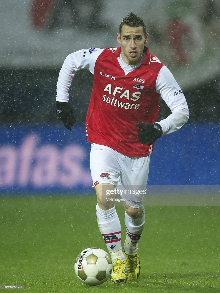 Donny Gorter of AZ during the Dutch Eredivisie Match between AZ Alkmaar and NAC Breda at the AFAS Stadium on february 24, 2013 in Alkmaar, The Netherlands