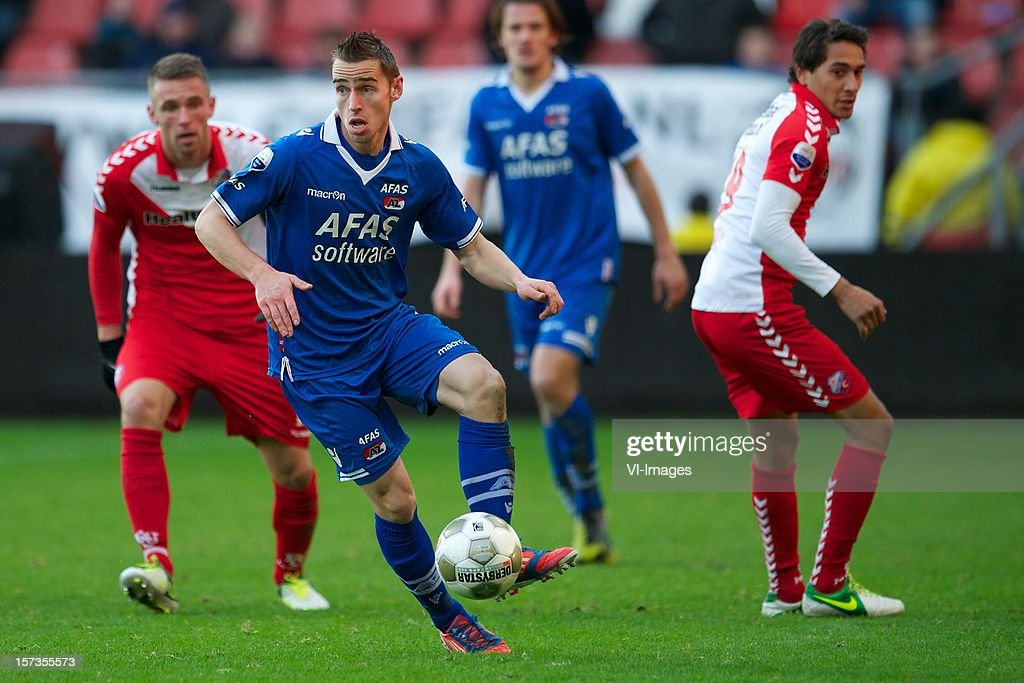 Donny Gorter of AZ during the Dutch Eredivisie match between FC Utrecht and AZ Alkmaar at the Galgenwaard Stadium on December 02, 2012 in Utrecht, The Netherlands.