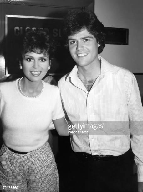 Donny Osmond and Marie Osmond circa 1980 in New York City