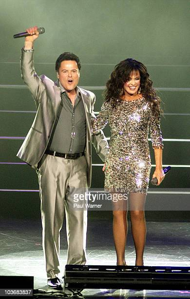 Donny Osmond and Marie Osmond perform at The Venue at The Horseshoe Casino on August 26 2010 in Hammond Indiana