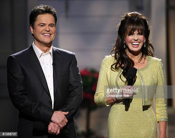 CULVER CITY CA MAY 11 Donny Osmond and Marie Osmond perform during Teleflora presents America's Favorite Mom in Culver City on May 10 2008 Pasadena...