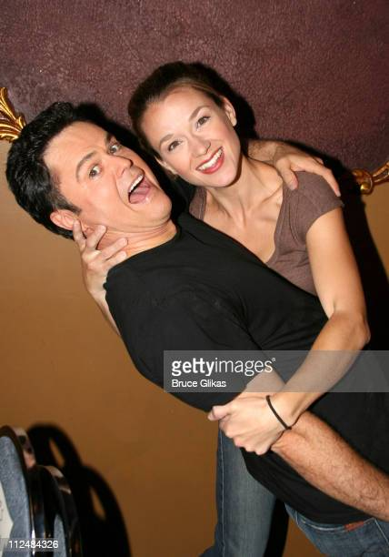 Donny Osmond and Sarah Uriarte Berry during Donny Osmond Rehearses for 'Beauty and The Beast' on Broadway at The LuntFontanne Theatre in New York...
