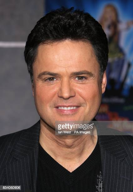 Donny Osmond arrives at the premiere for new film Hannah Montana and Miley CyrusBest of Both Worlds Concert at the El Capitan Theatre Los Angeles