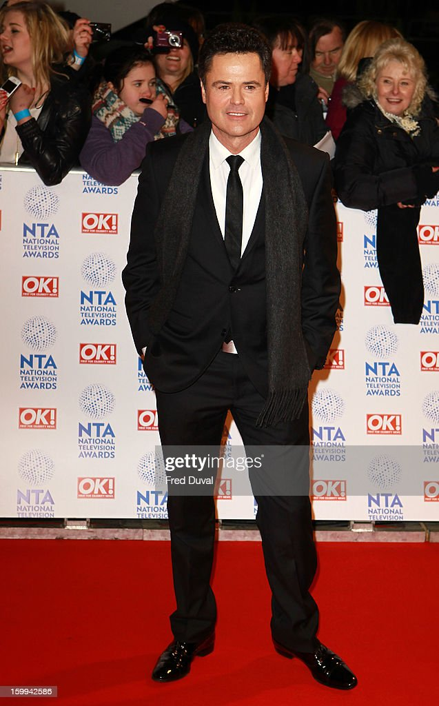 Donny Osmond attends the National Television Awards at 02 Arena on January 23, 2013 in London, England.