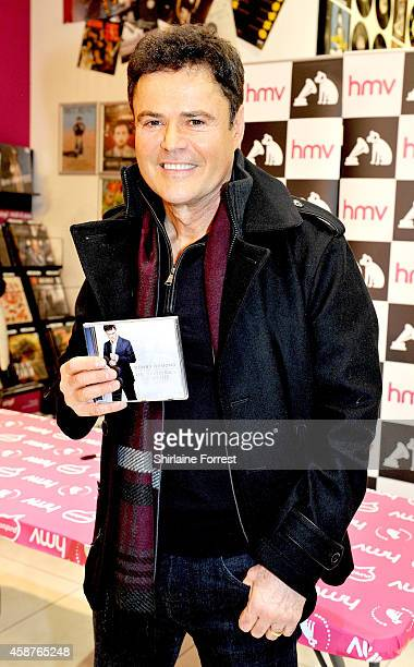 Donny Osmond meets fans and signs copies of his new album 'Soundtrack of my Life' at HMV on November 10 2014 in Manchester England