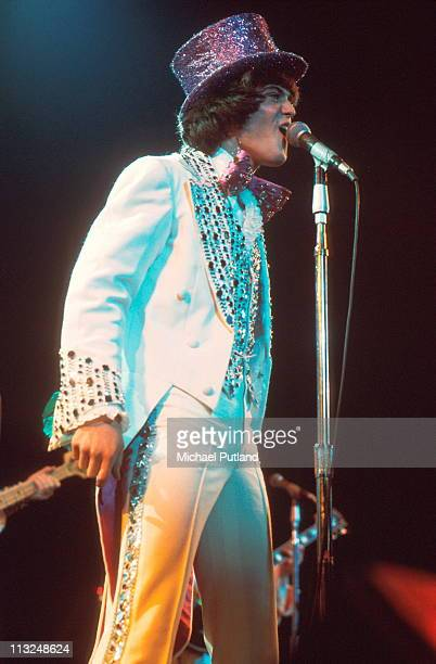 Donny Osmond of The Osmonds performs on stage London 1975