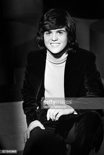 Donny Osmond of The Osmonds poses for a portrait at a TV studio in 1974 in Hilversum Netherlands